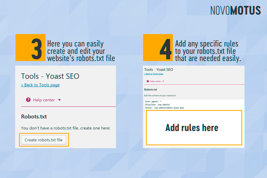 Yoast SEO Edit Robots.txt File & .Htaccess