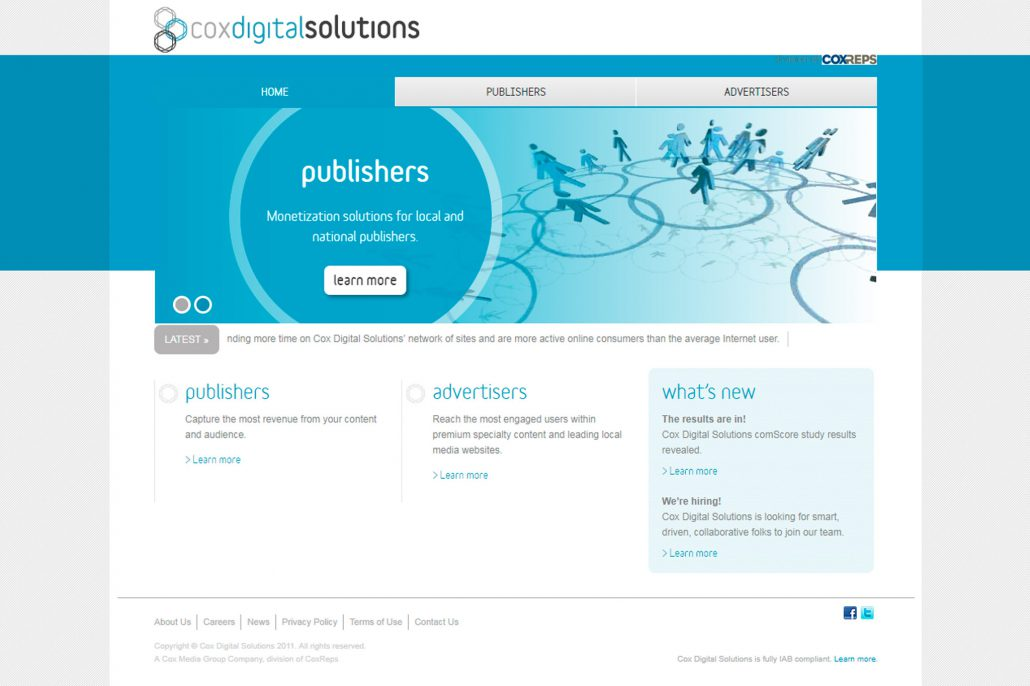 Cox Digital Solutions Website